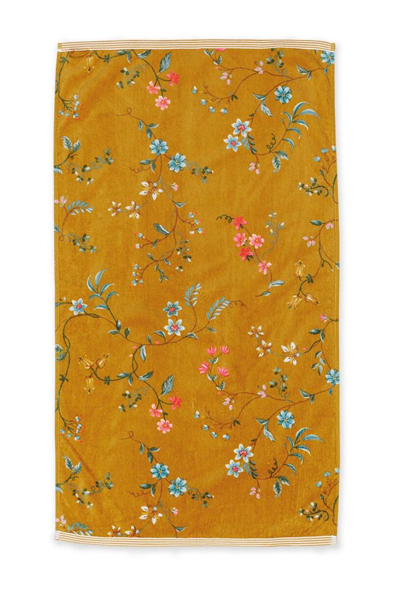 Color Relation Product Baddoek Les Fleurs Geel 55x100 cm