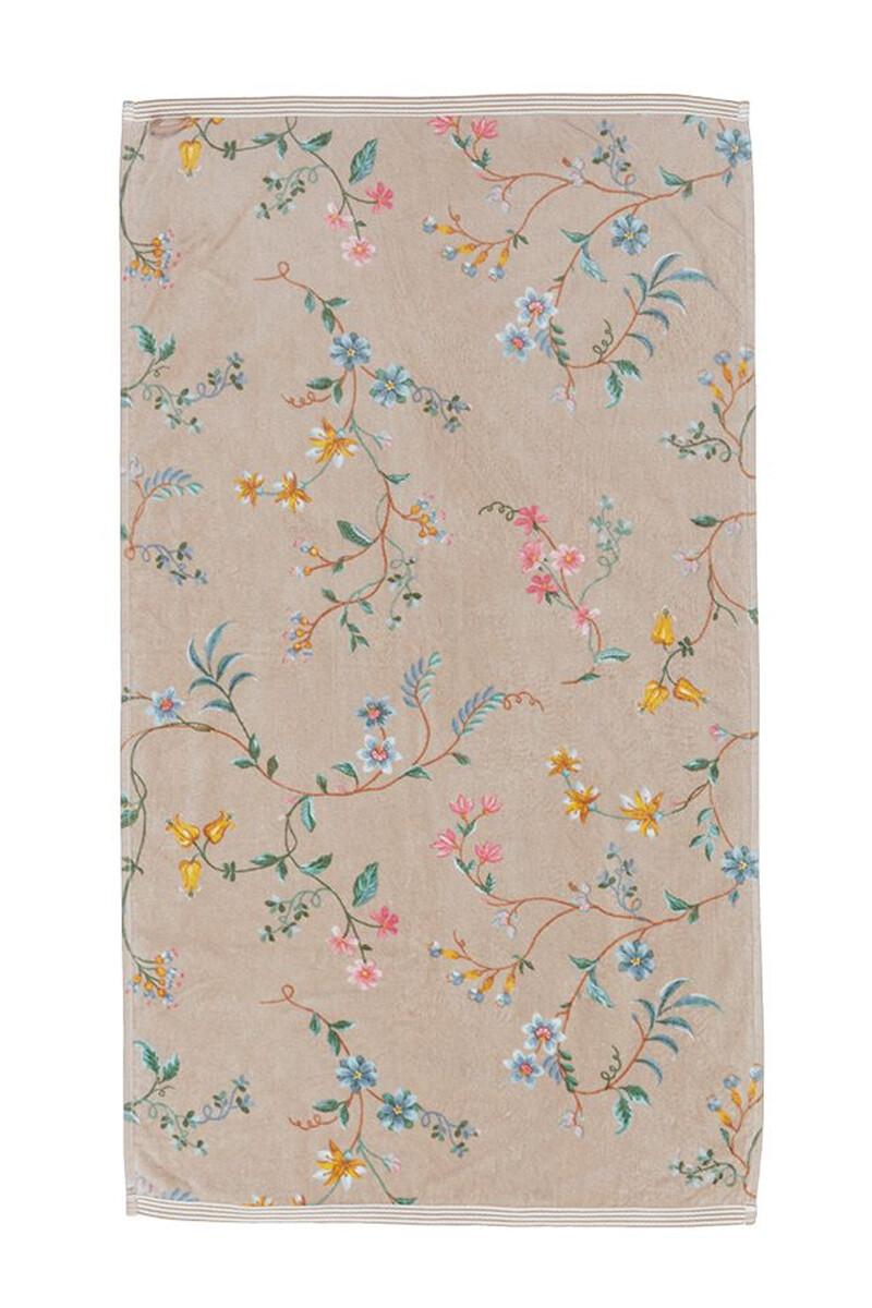 Color Relation Product Badetuch Les Fleurs Khaki 55x100 cm