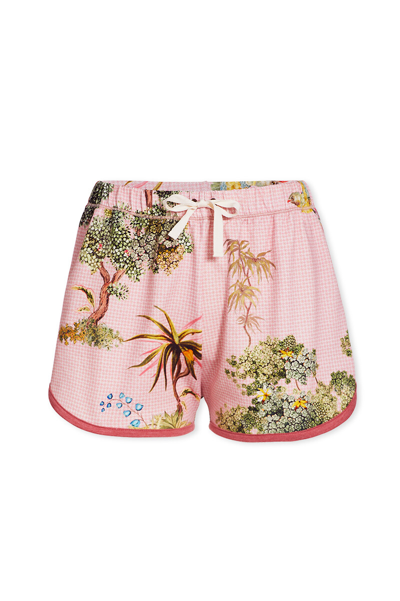 Color Relation Product Trousers Short C'est La Tree Pink