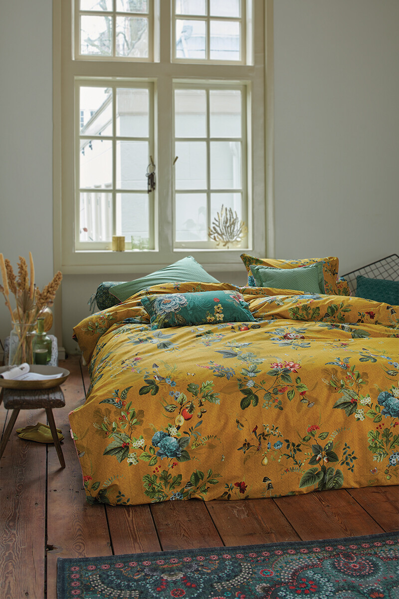 Color Relation Product Duvet Cover Fall in Leaf Yellow