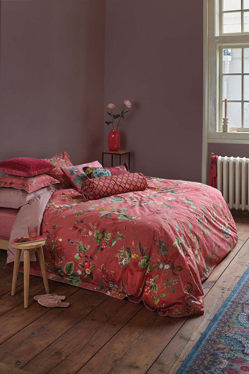 Color Relation Product Duvet Cover Fall in Leaf Pink