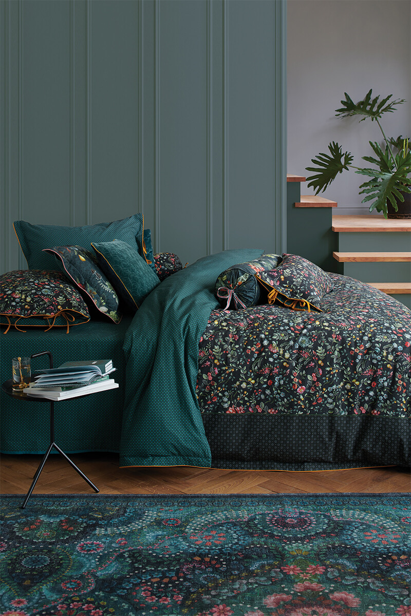Color Relation Product Duvet Cover Midnight Garden Green