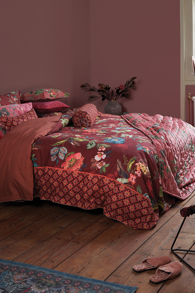Color Relation Product Duvet Cover Poppy Stitch Red