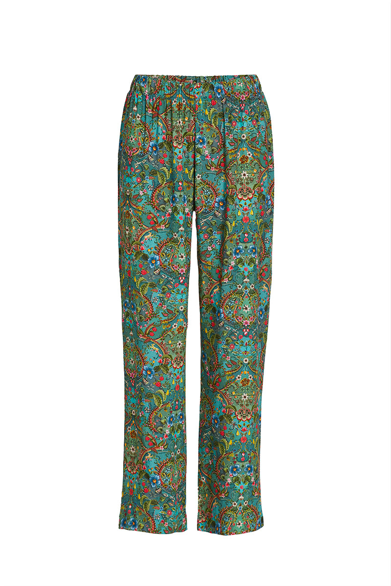 Color Relation Product Trousers Long Wide Pippadour Green
