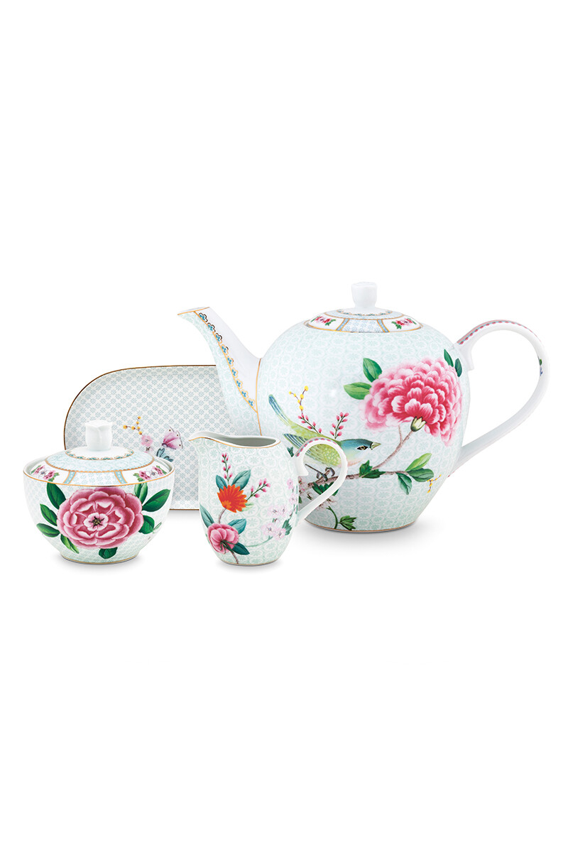 Color Relation Product Blushing Birds Thee Set/4 Wit