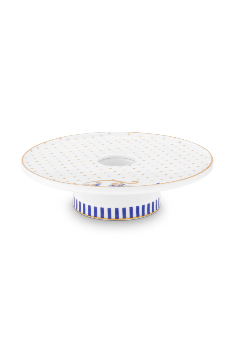 Color Relation Product Royal Stripes Candle Tray White 14 cm