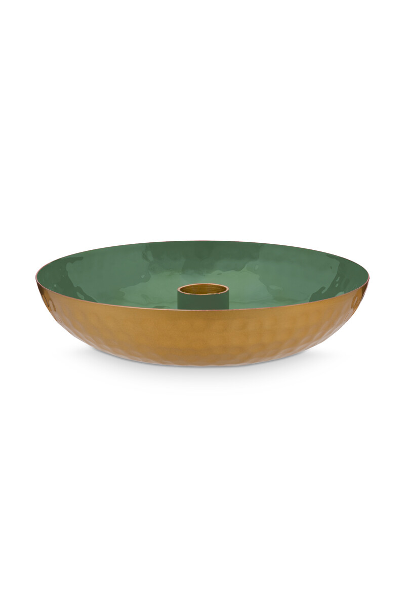 Color Relation Product Candle Tray Small Green 16 cm