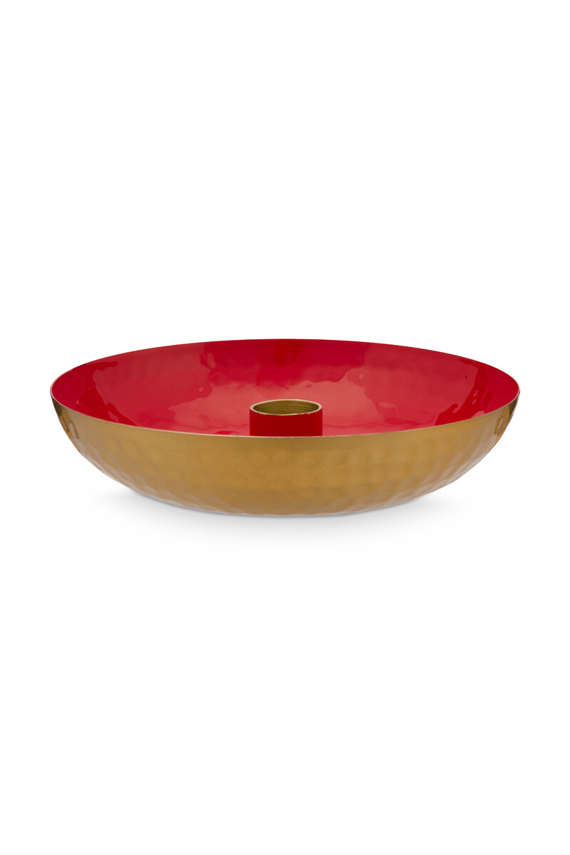 Color Relation Product Candle Tray Small Red 16 cm