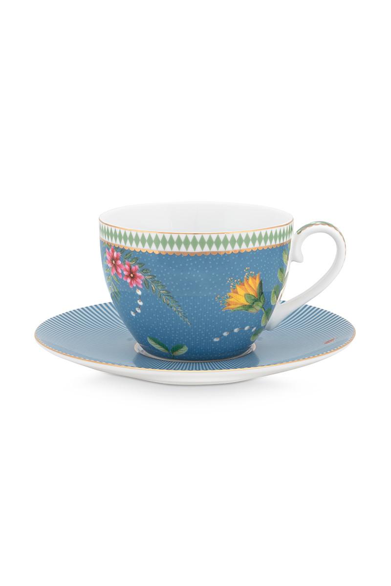 Color Relation Product La Majorelle Cappuccino Tasse & Untertasse Blau