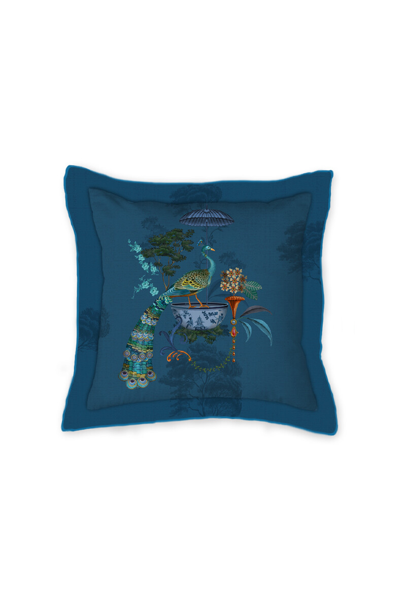 Color Relation Product Cushion Square Chinese Porcelain Blue