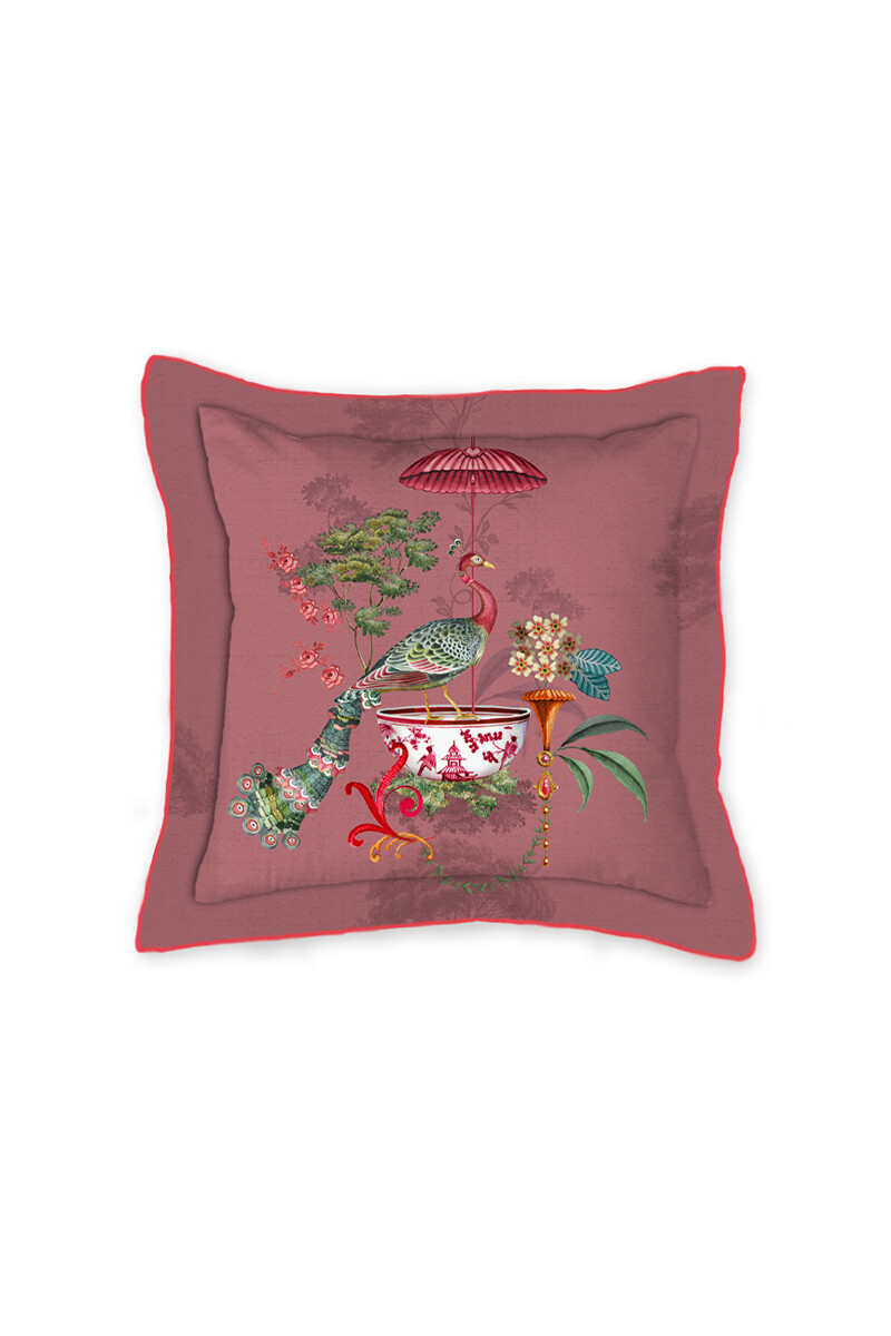 Color Relation Product Vierkant Sierkussen Chinese Porcelain Roze