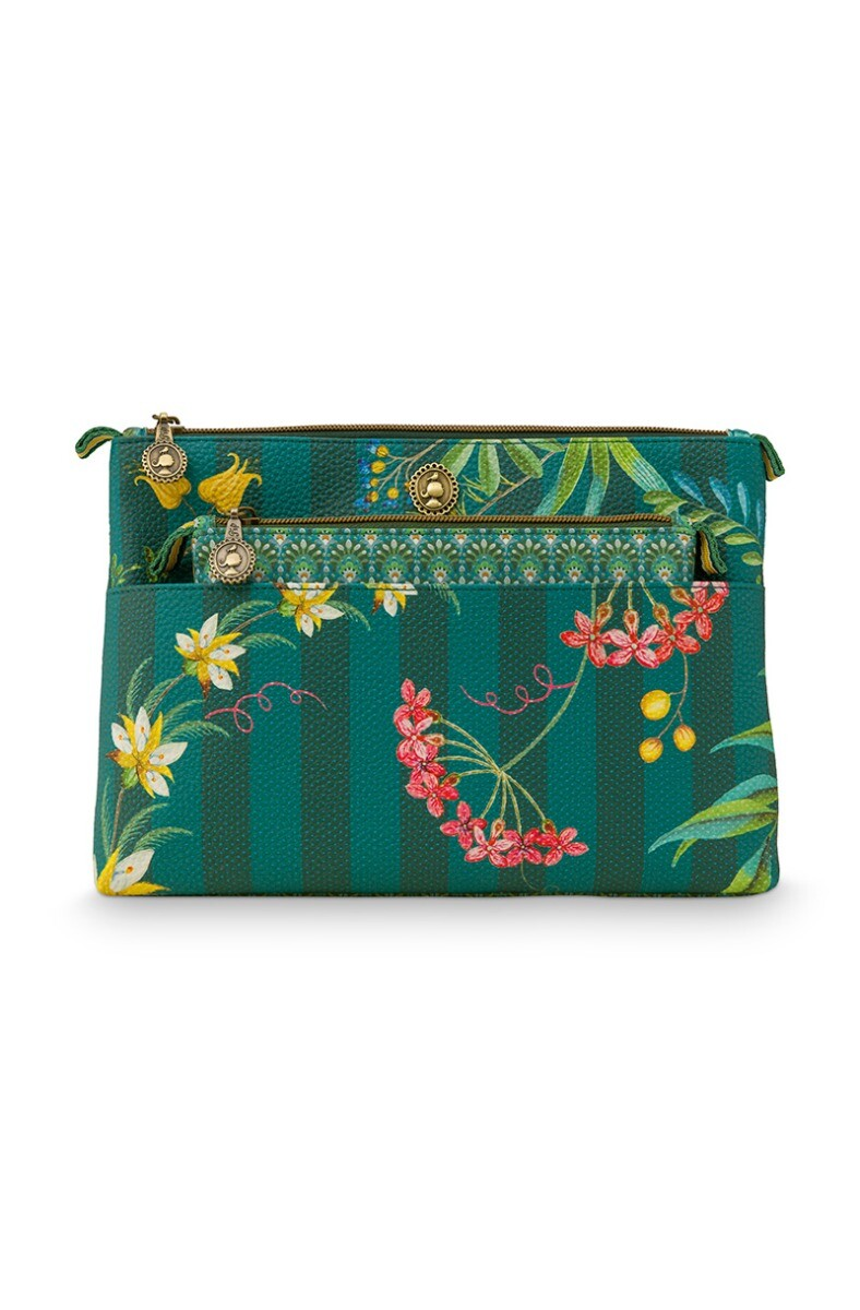 Color Relation Product Necessaire Combi Fleur Grandeur Grün