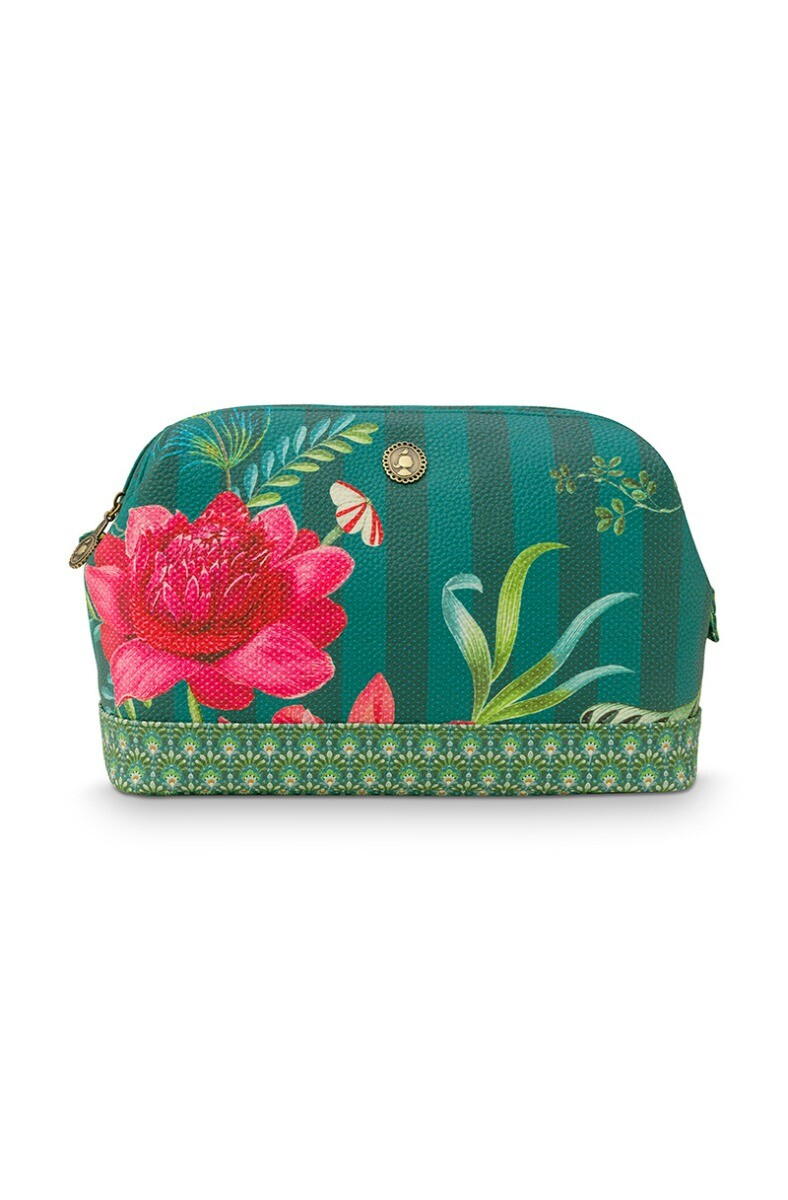 Color Relation Product Cosmetic Purse Large Fleur Grandeur Green