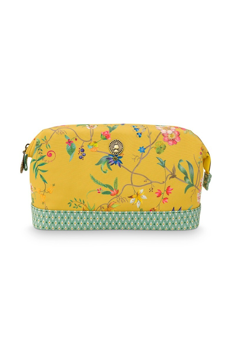 Color Relation Product Cosmetic Purse Medium Petites Fleurs Yellow