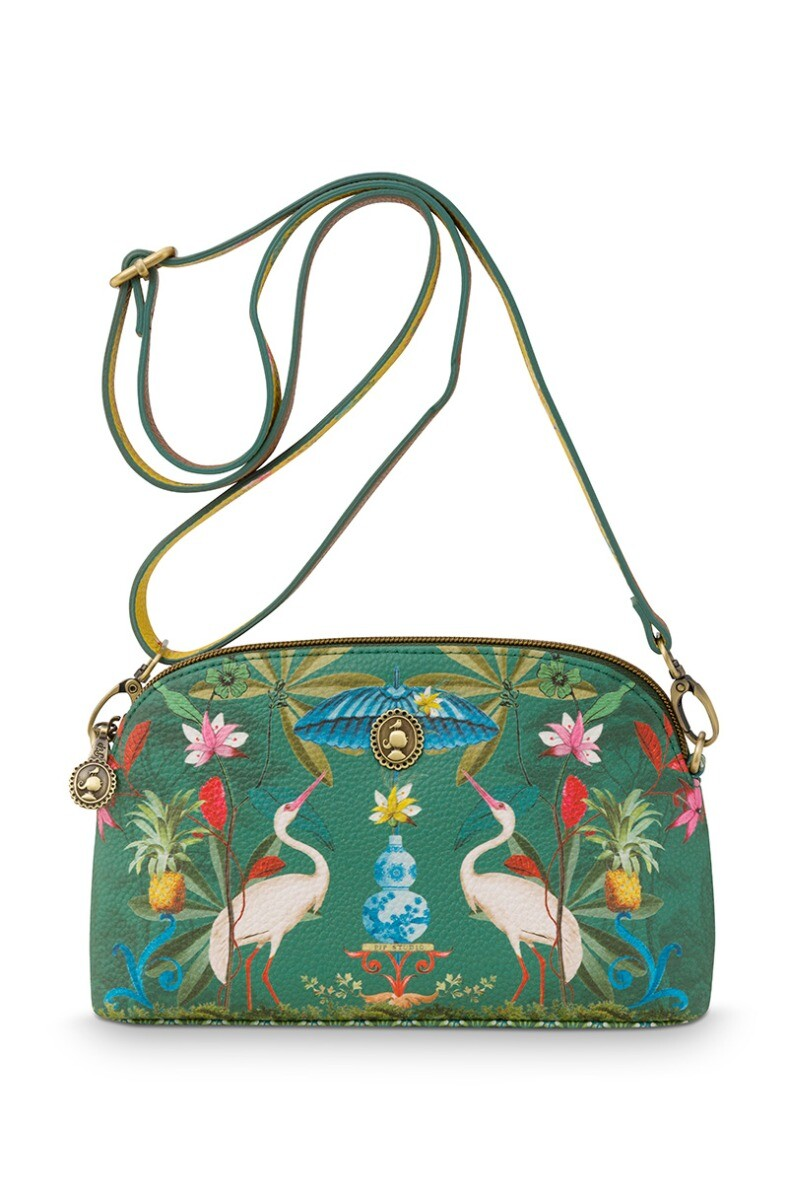 Color Relation Product Cross Body Small Heron Homage Green