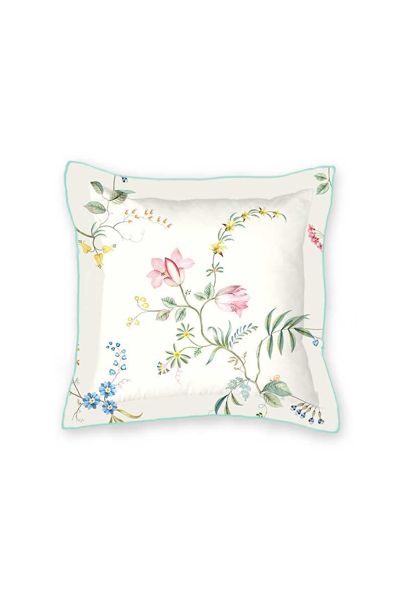 Color Relation Product Cushion Square Fleur Grandeur White