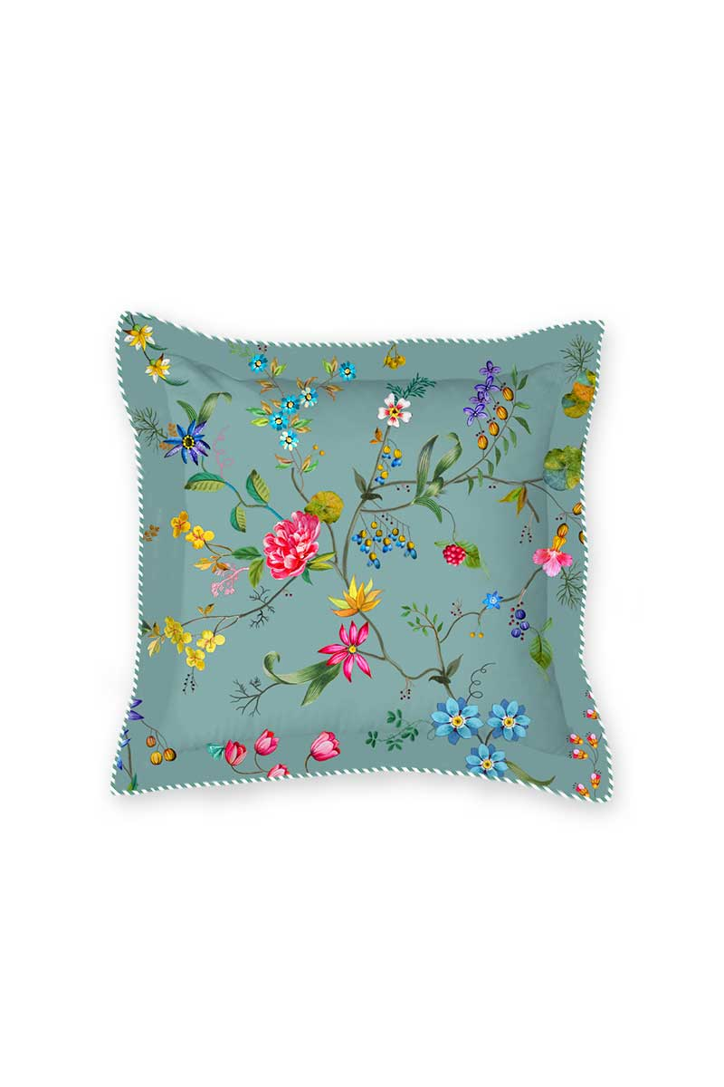 Color Relation Product Cushion Square Petites Fleurs Blue
