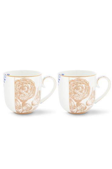 Royal White Set of 2 mugs large