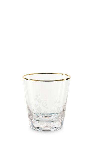 Blushing Birds Water Glass
