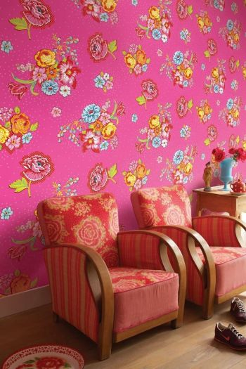 Pip Studio Bunch of Flowers Wallpower Pink