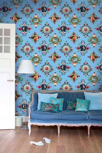 fotobehang-vliesbehang-bloemen-blauw-pip-studio-ruby-robin