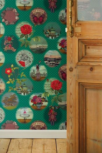 wallpower-non-woven-flowers-green-pip-studio-remember-brighton