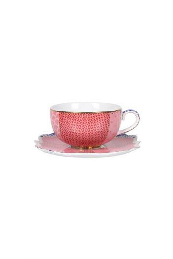 Royal Multi Espresso Cup & Saucer Pink