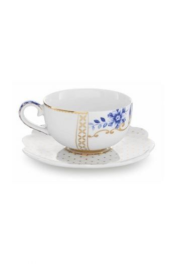 Royal White Espresso Cup & Saucer