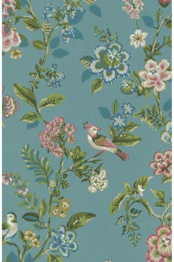 wallpaper-non-woven-vinyl-flowers-bird-sea-blue-pip-studio-botanical-print