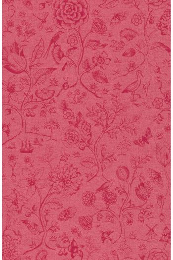 wallpaper-non-woven-vinyl-flowers-red-pink-pip-studio-spring-to-life-two-tone