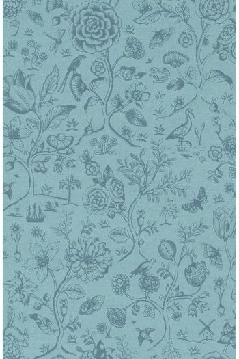 wallpaper-non-woven-vinyl-flowers-sea-blue-pip-studio-spring-to-life-two-tone
