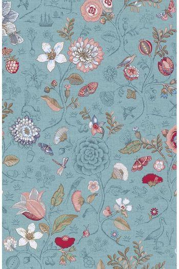 wallpaper-non-woven-vinyl-flowers-sea-blue-pip-studio-spring-to-life
