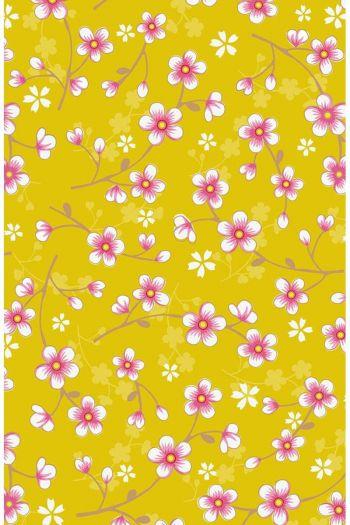 wallpaper-non-woven-flowers-yellow-pip-studio-cherry-blossom