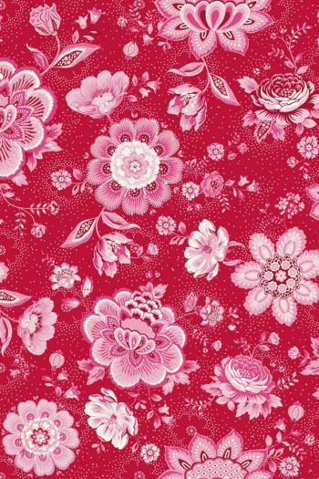 wallpaper-non-woven-vinyl-flowers-red-pip-studio-folklore-chintz