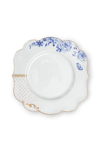 Royal White breakfast plate golden dots 23,5 cm