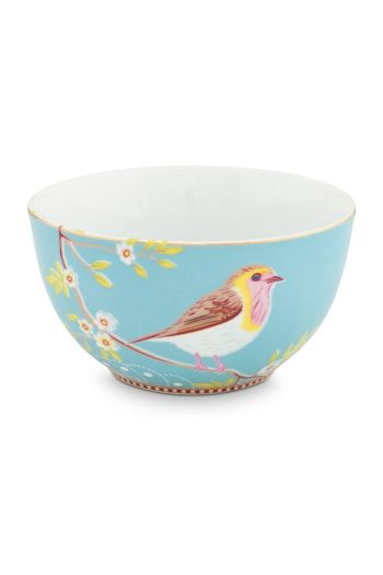 Floral Bowl Early Bird 15 cm Blue