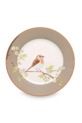 Floral Breakfast Plate Early Bird Khaki 21 cm