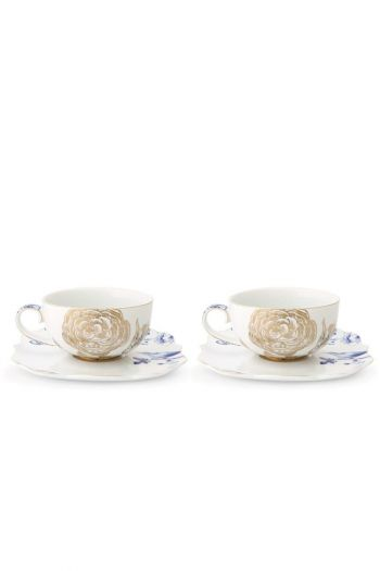 Royal White Cadeauset 2 Thee Kop & Schotel