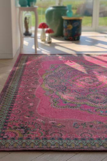 Carpet-bohemian-red-floral-majorelle-pip-studio-155x230-200x300
