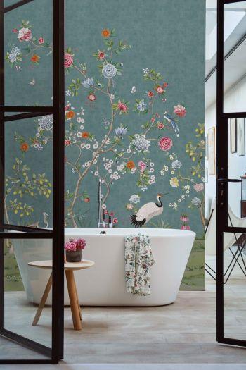 wallpower-non-woven-flowers-dark-blue-pip-studio-good-morning