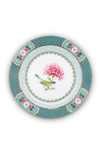 Blushing Birds Pastry Plate blue 17 cm
