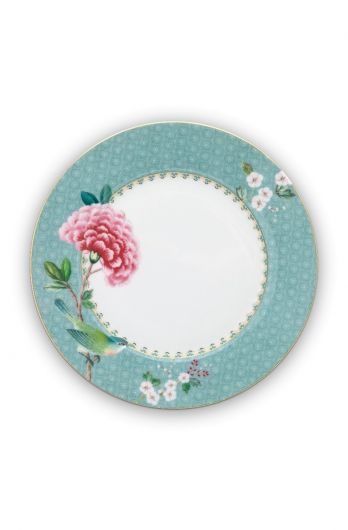 Blushing Birds Breakfast Plate blue 21 cm