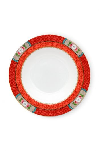 Blushing Birds Soup Plate Red 21.5 cm