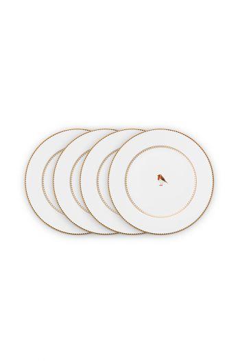 gebak-bordje-set-4-plates-17-cm-wit-gouden-details-love-birds-pip-studio