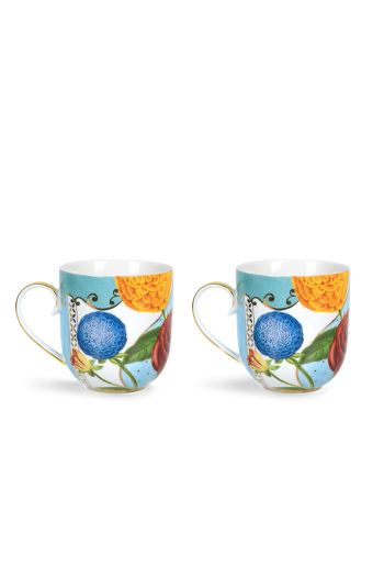 Royal Flowers Set of 2 mugs small