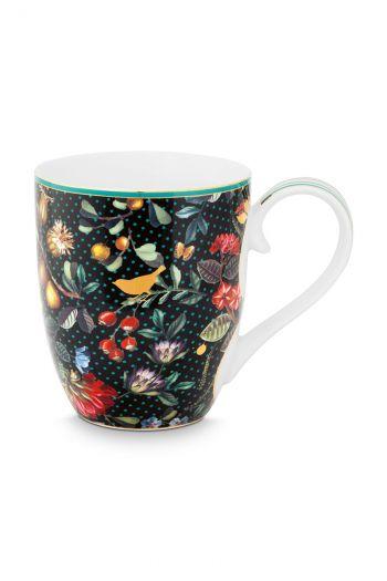 Mug-XL-450-ml-dark-blue-gold-details-winter-wonderland-pip-studio