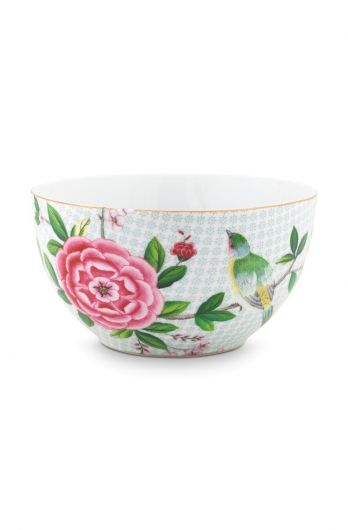 Blushing Birds Bowl white 15 cm
