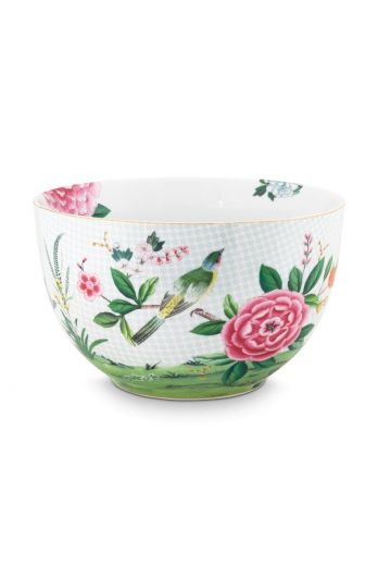 Blushing Birds Bowl large white 23 cm