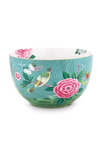 Blushing Birds Bowl large blue 23 cm