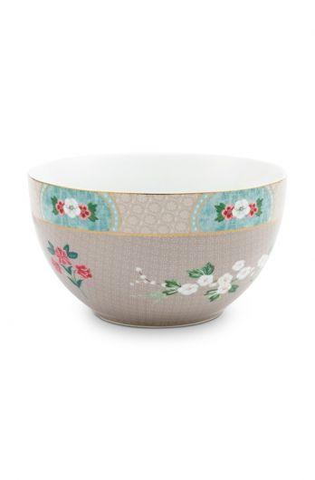 bowl-khaki-botanical-print-blushing-birds-pip-studio-18-cm